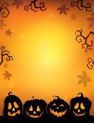Pumpkin silhouettes thematics image 2