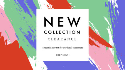 Modern promotion web banner for social media mobile apps. Elegant sale and discount promo background with abstract pattern. Email ad newsletter layout.