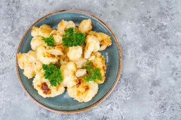 Cauliflower fried in batter