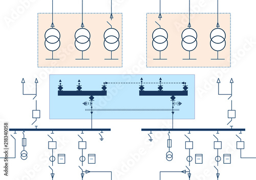 electric wiring diagram for power transformers