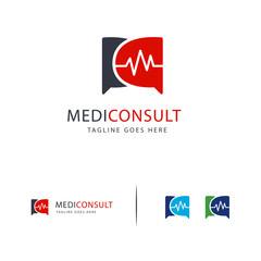 Health Consult logo designs concept, Health Forum logo template vector