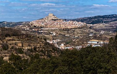 Breathtaking view of Morella town. Spain