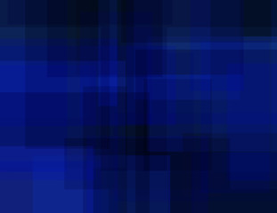 Abstract ultramarine geometric background with rectangles. Simple dark blue vector graphic pattern