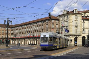 Torino, Piazza Castello in Piemonte, Italia