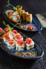 sushi in the asian restaurant