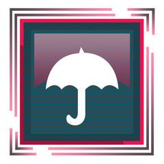 иконка зонтик в квадрате