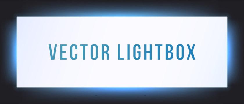 Lightbox sign box mockup. Vector illuminated signage signage light box signboard