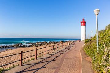 Beach Ocean Lighthouse Walking Promenade