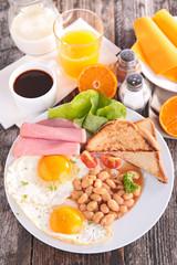 english breakfast with coffee