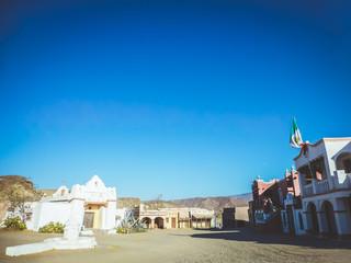 Tabernas. Poblado  western en Almeria. Andalucia, España