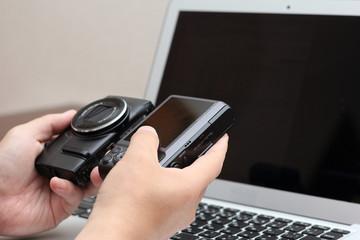デジタルカメラ 画像取り込み作業 イメージ