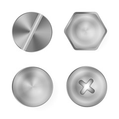 Metal screws.Vector.