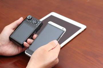 デジタルカメラとスマートホン