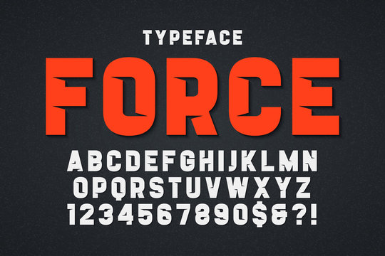 Force heavy display font design. Swatches color control.