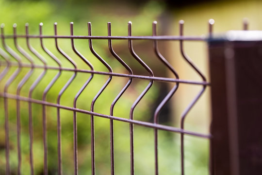 welded metal wire mesh fence closeup
