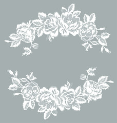 lace floral garland
