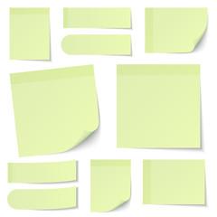 Light Green Stick Notes Set