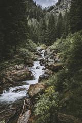 saent waterfall in trentino alto adige
