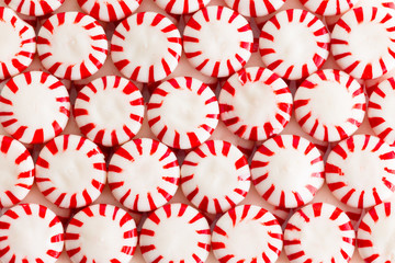 Colorful red and white starlight candies