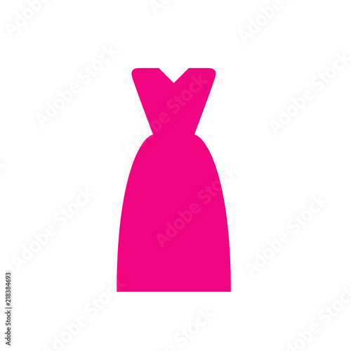 Pink dress icon for apps and websites