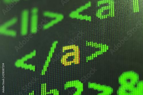 Programming code abstract screen of software developer