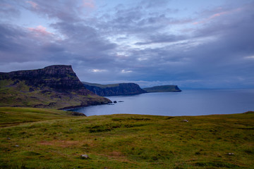 Isle of Skye Glendale Cost Landscape at blue hour  Scotland Nature