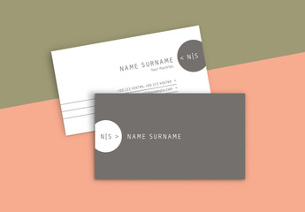 Business Card Layout with Circular Elements