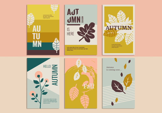 Autumn Greeting Card Set