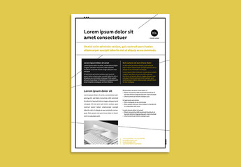 Business Flyer Layout with Mustard Accents