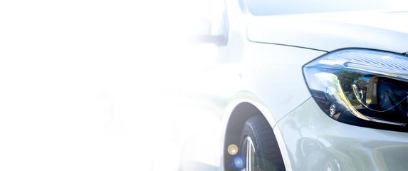 Modern white car  Fototapete