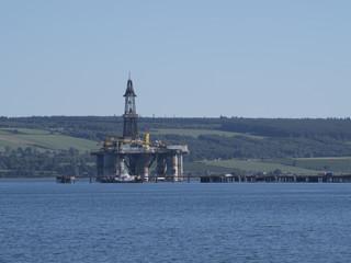 Plateforme pétrolière à Invergordon (Ecosse)
