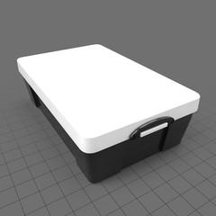 Medium plastic storage box