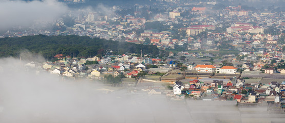 Houses in Da Lat City, Vietnam, where it is known as the little Paris. It is formed the first 20th century with the famous architectural works nicely and by the French building