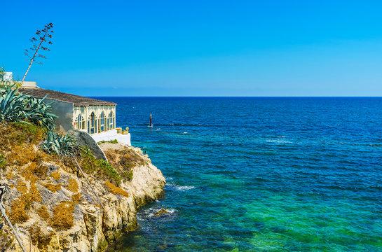 Mediterranean seascape from Mahdia coast, Tunisia