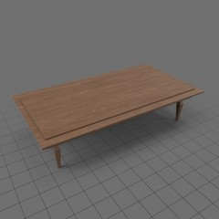 Low rectangular side table