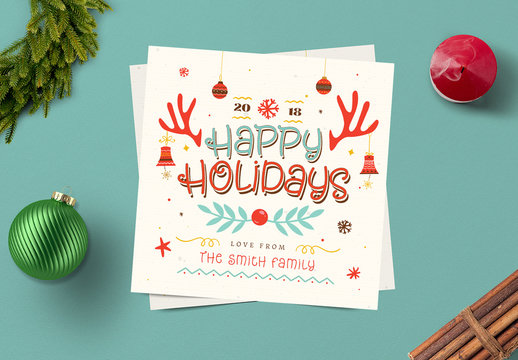 Jolly Holiday Social Media Card Layout
