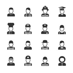 Vector image set of profession icons.