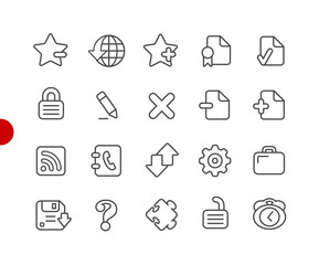 Web Icons // Red Point Series - Vector line icons for your digital or print projects.