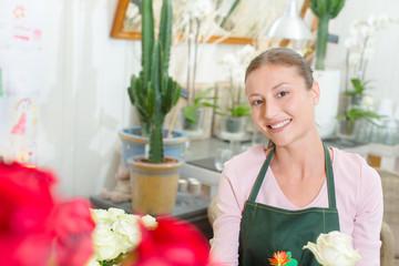 Florist loves her job