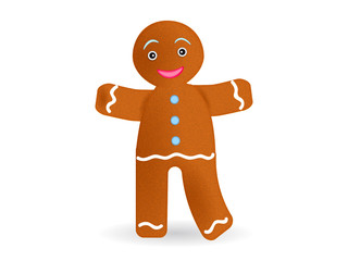 Cartoon gingerbread man isolated on white background. Vector illustration bd4bf5823e9