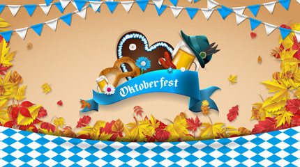 Oktoberfest Banner Hintergrund.