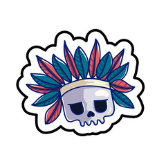 Fashion patch skull badge