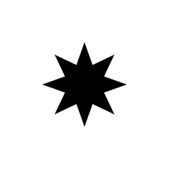 eight-pointed star icon. Element of web icons. Premium quality graphic design icon. Signs and symbols collection icon for websites, web design, mobile app