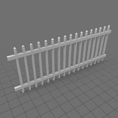 Gothic point picket fence