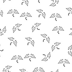 wings line icon in pattern style. One of Angel and Demons collection icon can be used for UI, UX on white background