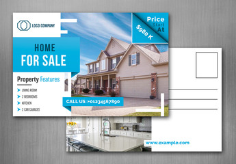 Real Estate Postcard Layout