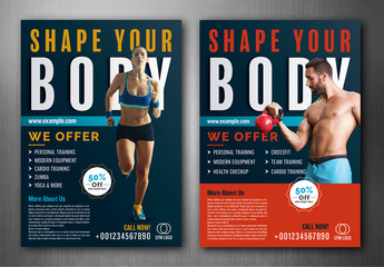 Gym Flyer Layouts