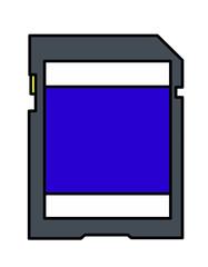SDカード模様(青)