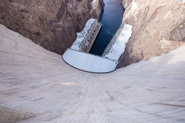 Aluminium Prints Dam Giant Hoover Dam on Colorado River at Nevada-Arizona stateline