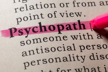 Wall Mural - definition of psychopath